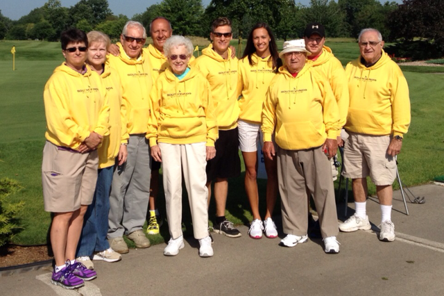 Group of golfers standing together